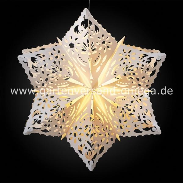 LED Outdoor-Stern Weiß in Schneeflocken Design