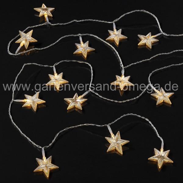 LED-Lichterkette mit silber-transparenten Sternen