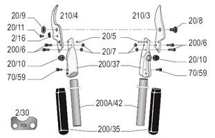 felco-210a-60-zeichnung-einzelteile
