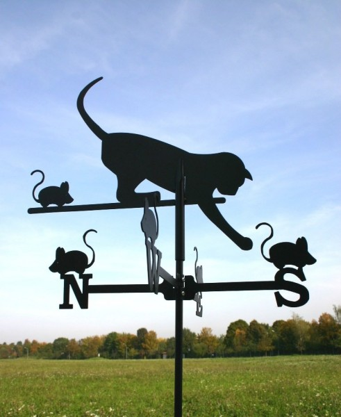 Wetterfahne Katze Klein