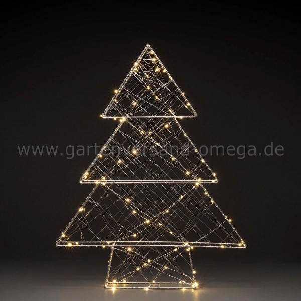 LED Metallweihnachtsbaum Silber