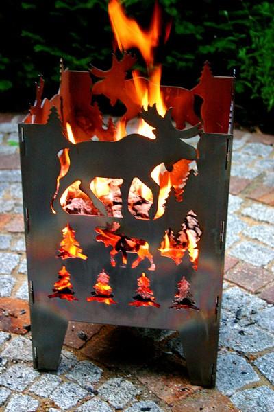 Feuerkorb Elch