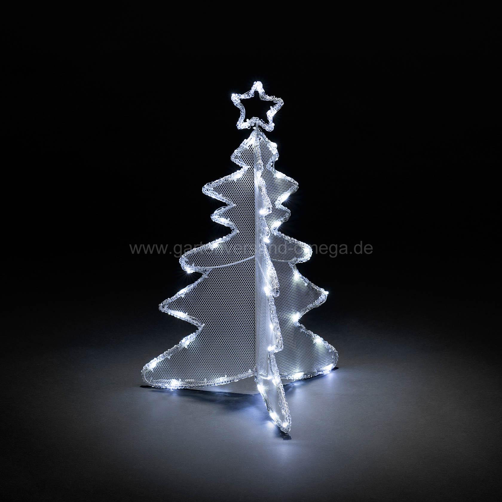 3d led acryl tannenbaum 60cm led tannenbaum kalt wei e weihnachtsbeleuchtung led. Black Bedroom Furniture Sets. Home Design Ideas