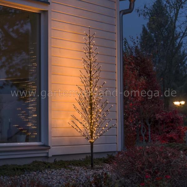 LED-Lichterbaum Schwarz Groß mit Glimmereffekt