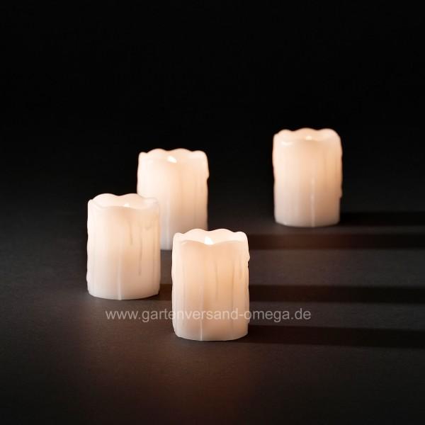 Weihnachtsbeleuchtung Innen Kerzen.Led Echtwachskerzen Zerlaufende Wachsoptik Weiß