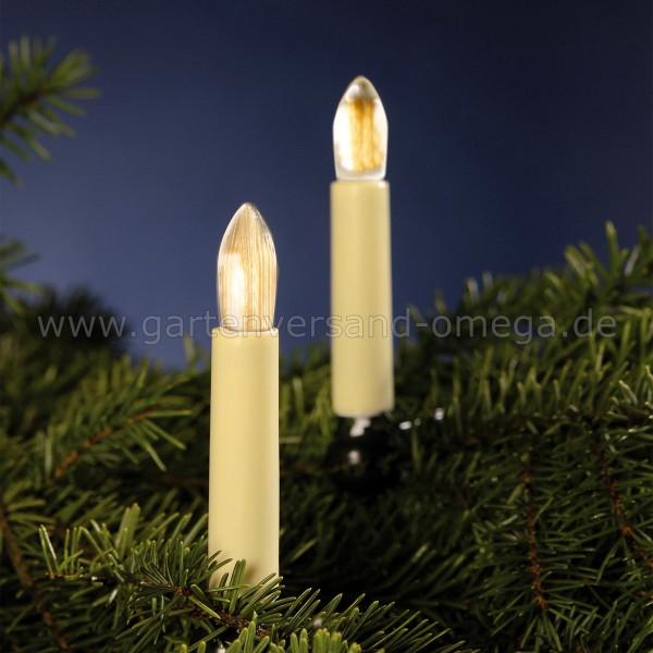 LED Filament Riffelkerzen-Lichterkette für Innen