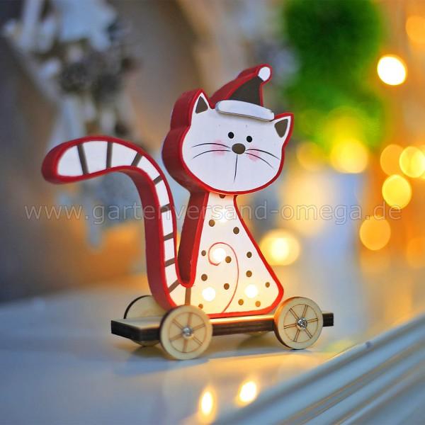 Anwendungsbeispiel - LED Holz-Katze Sitzend