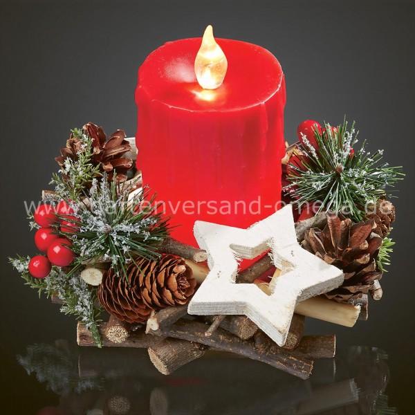 Weihnachtsbeleuchtung Kranz.Weihnachtsgesteck Advent Lichterdeko Weihnachtsbeleuchtung Led Deko