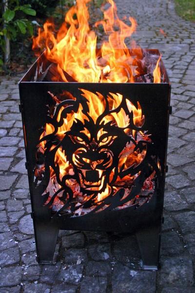 Feuerkorb Löwe