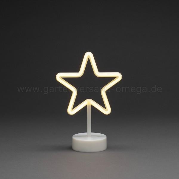 LED-Dekoration Schlauchsilhouette Stern