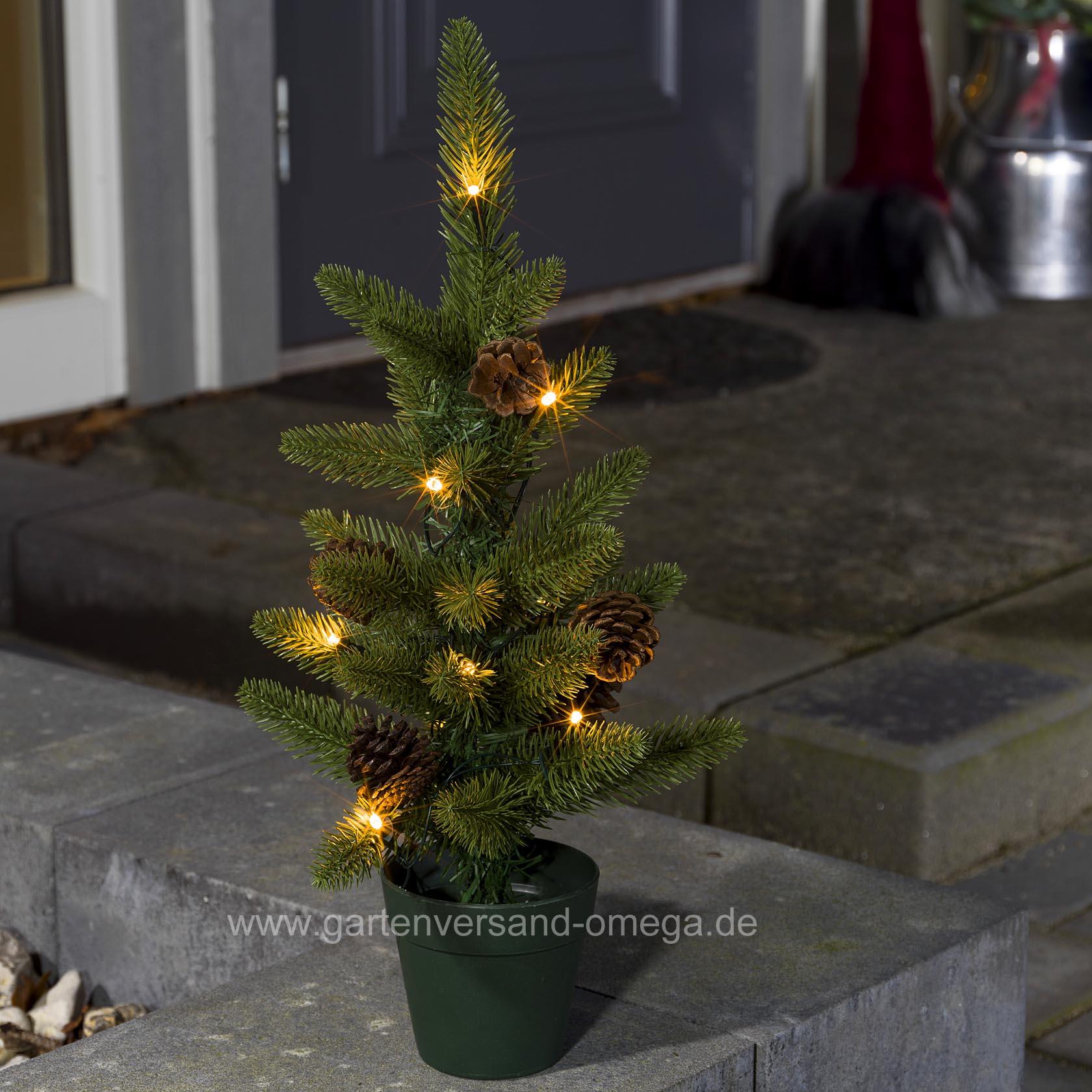 Künstlicher Weihnachtsbaum Außen.Batteriebetriebener Led Weihnachtsbaum 45cm Für Außen