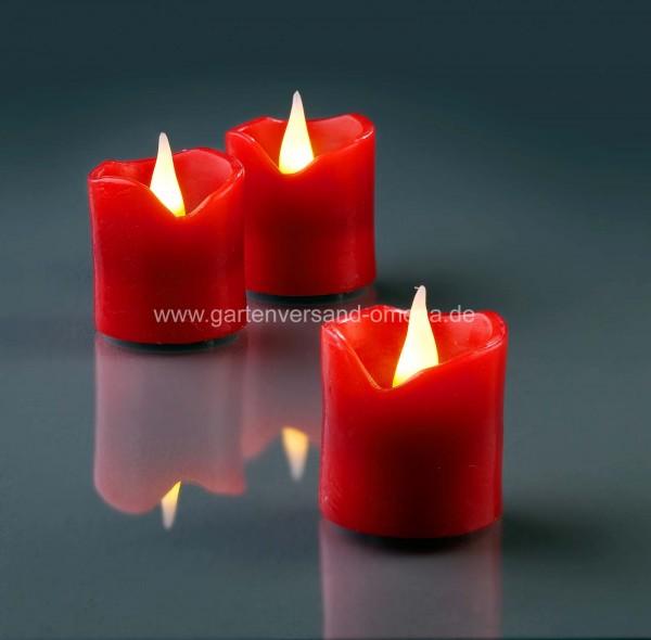 LED-Wachskerzen 6er Set Rot