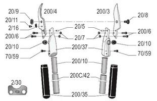 felco-200c-60-zeichnung-einzelteile