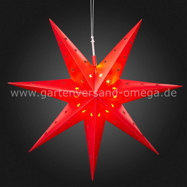 Papiersterne Weihnachtsbeleuchtung.Led Outdoor Stern Rot