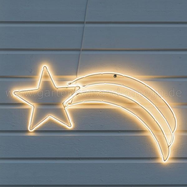 LED-Fenstersilhouette Komet - Weihnachtsaußenbeleuchtung im Einsatz