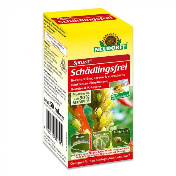 Neudorff Spruzit Schädlingsfrei 50ml - gegen saugende und beißende Insekten an Zierpflanzen, Gemüse und Kräutern