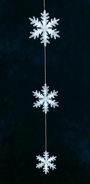 LED-Schneeflockenvorhang Kalt-Weiß