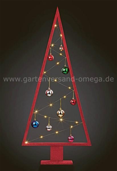 LED Holz-Pyramide mit Kugeln