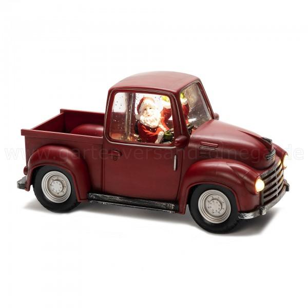 Wassergefüllte Weihnachtsdeko Pick-up mit Weihnachtsmann