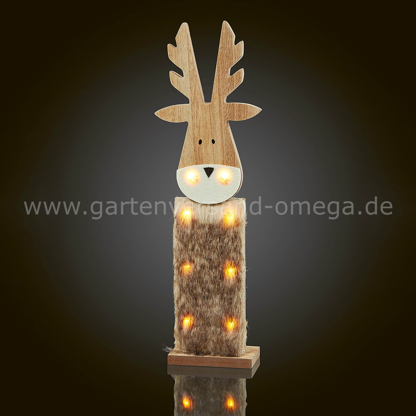led holzrentier batteriebetriebene weihnachtsbeleuchtung beleuchtetes holzrentier. Black Bedroom Furniture Sets. Home Design Ideas