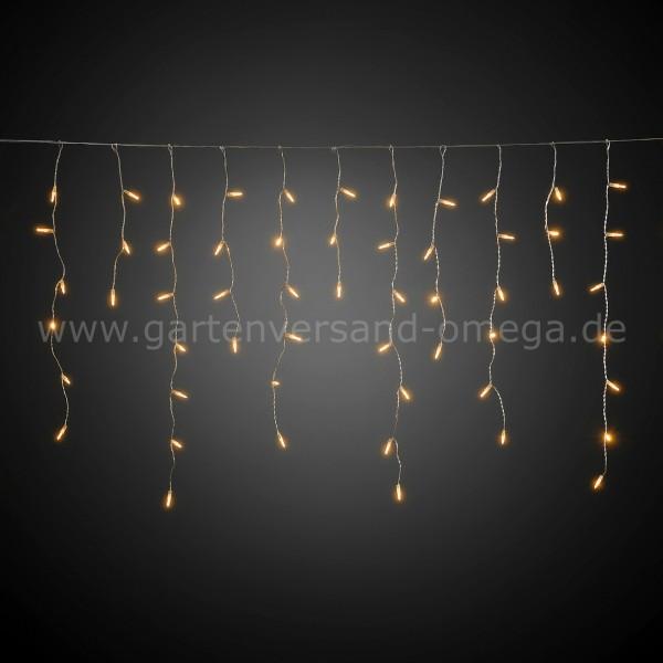 LED Eisregen-Lichtervorhang Bernsteinfarben