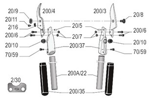 felco-200a-40-zeichnung-einzelteile