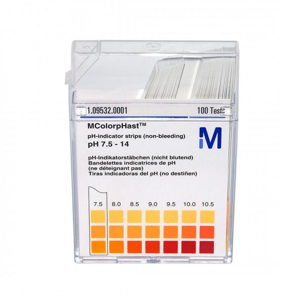 MColorpHast pH-Indikatorstäbchen pH 7,5 bis 14,0
