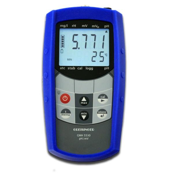 Greisinger Wasserdichtes pH-/Temperatur-Messgerät GMH5530