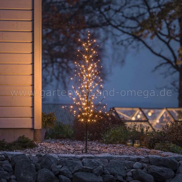 Anwendungsbeispiel - LED-Lichterbaum Schwarz Klein mit Glimmereffekt