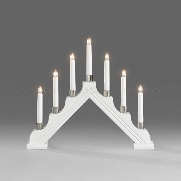Lichterbogen mit Metalldekoringen Weiß lackiert