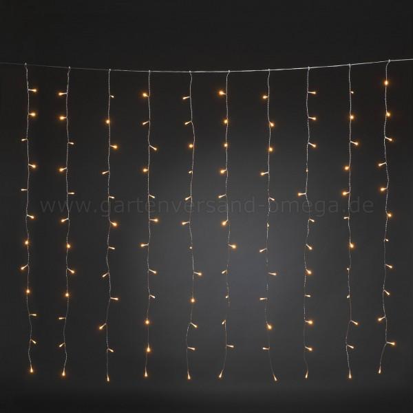 LED Lichtervorhang für Fenster Bernsteinfarben