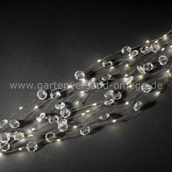 LED Diamantenlametta Silberdraht