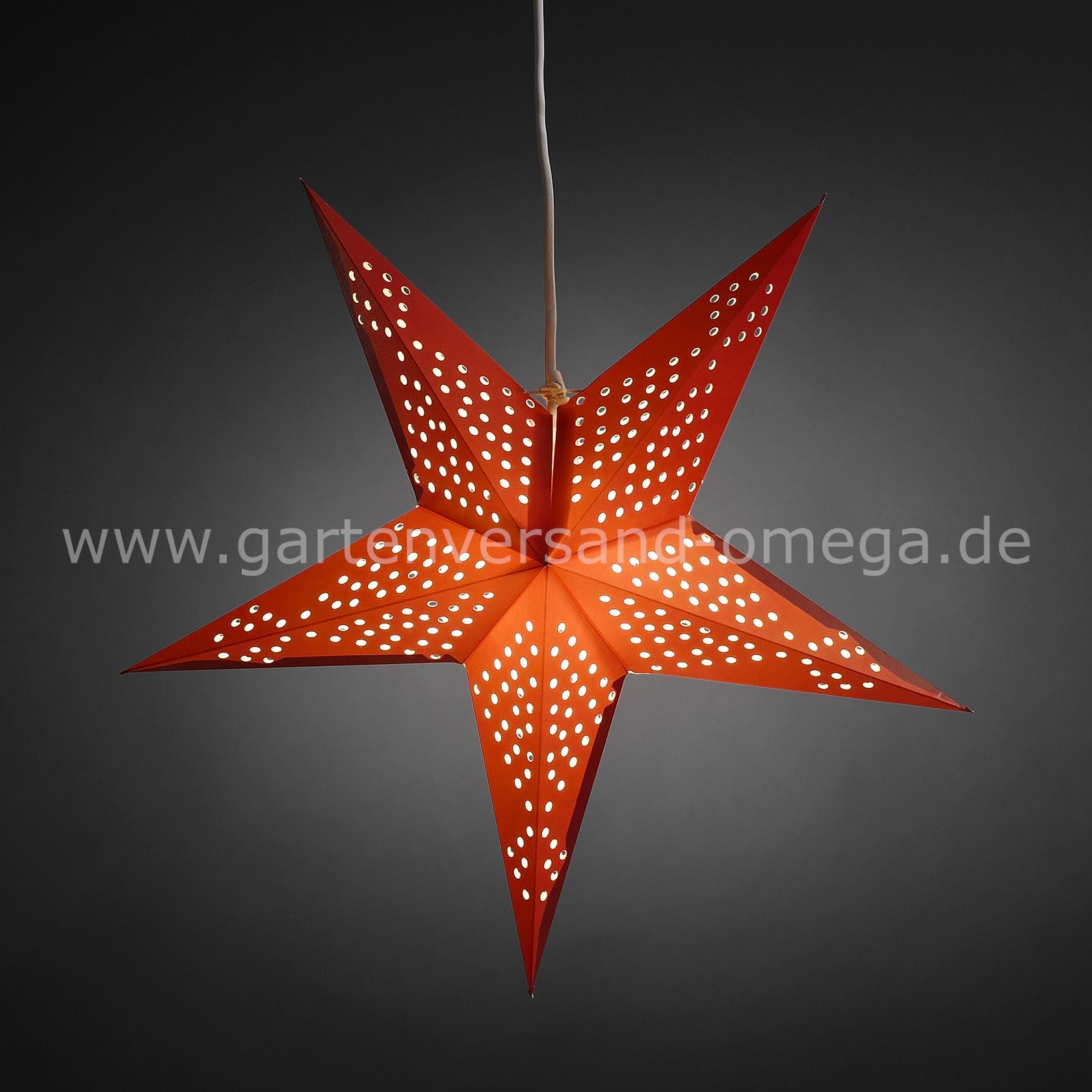 beleuchteter papierstern rot deko weihnachtsstern adventsstern beleuchtet leuchtender stern. Black Bedroom Furniture Sets. Home Design Ideas