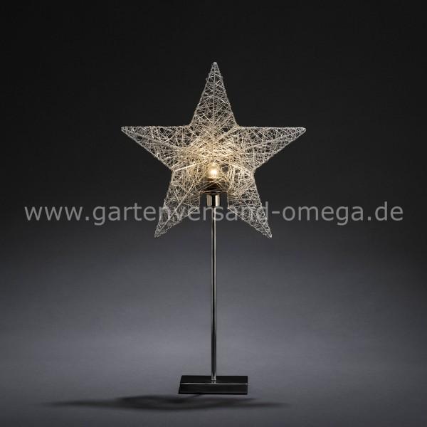 Silberfarbener Metallleuchter Motiv Stern