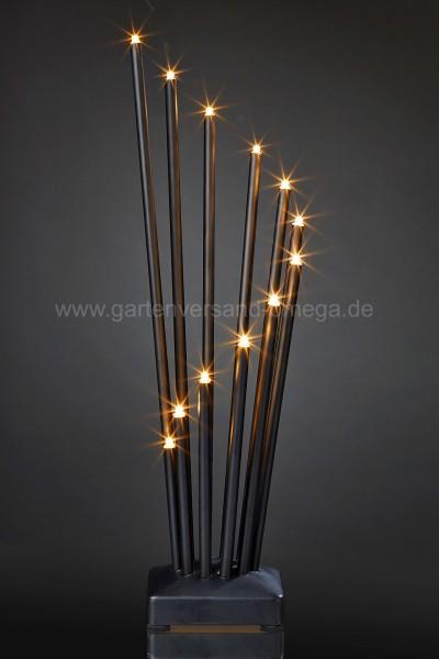 LED Metallleuchter Schwarz
