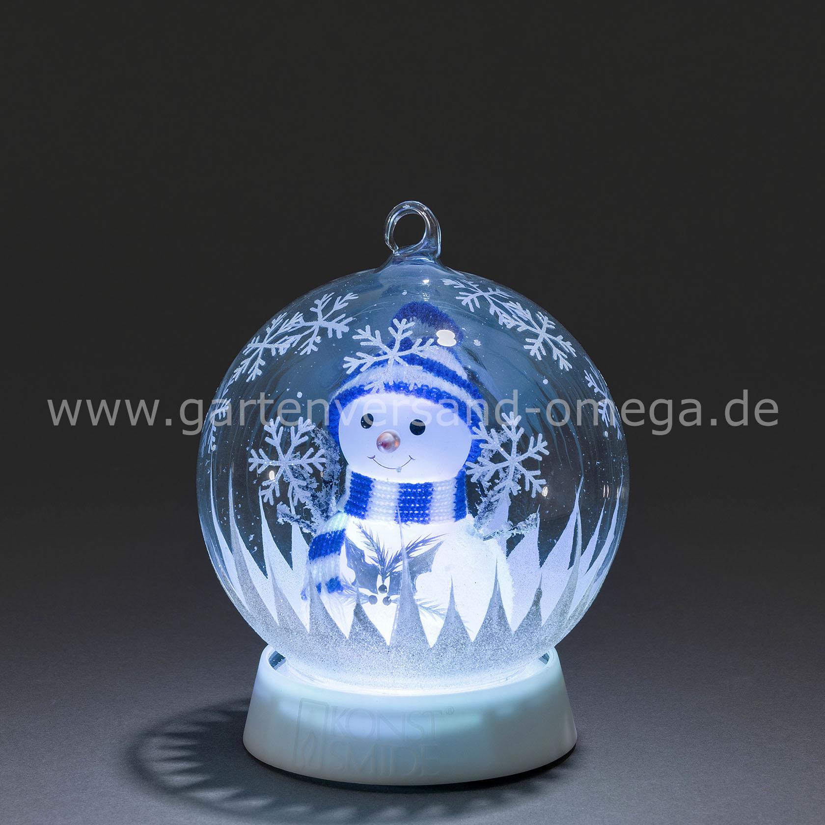 Weihnachtsdeko Aussen Schneemann.Led Dekoglaskugel Schneemann