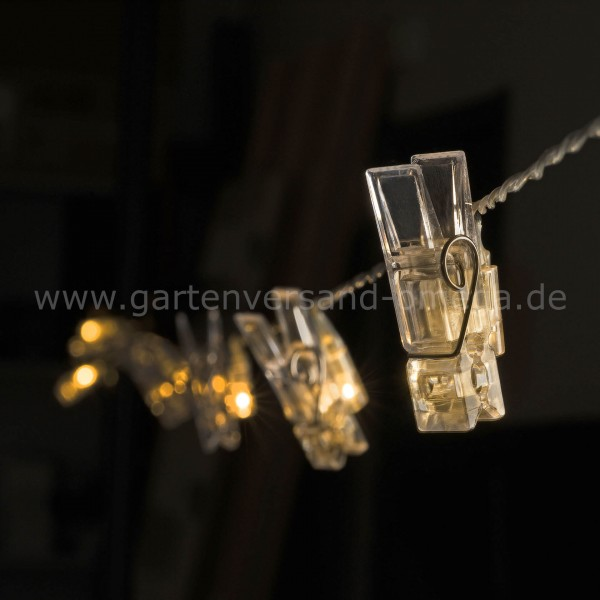 LED-Lichterkette mit Fotoclips
