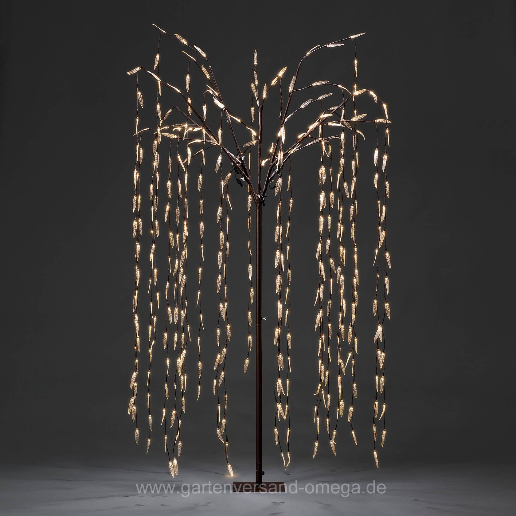 led trauerweide 250cm gro e weihnachtsbeleuchtung beleuchteter led baum lichterbaum. Black Bedroom Furniture Sets. Home Design Ideas