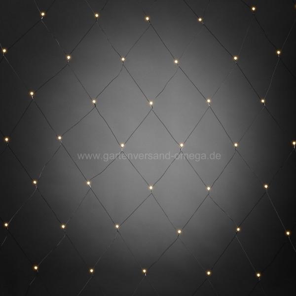 LED-Lichternetz mit weißen Globes