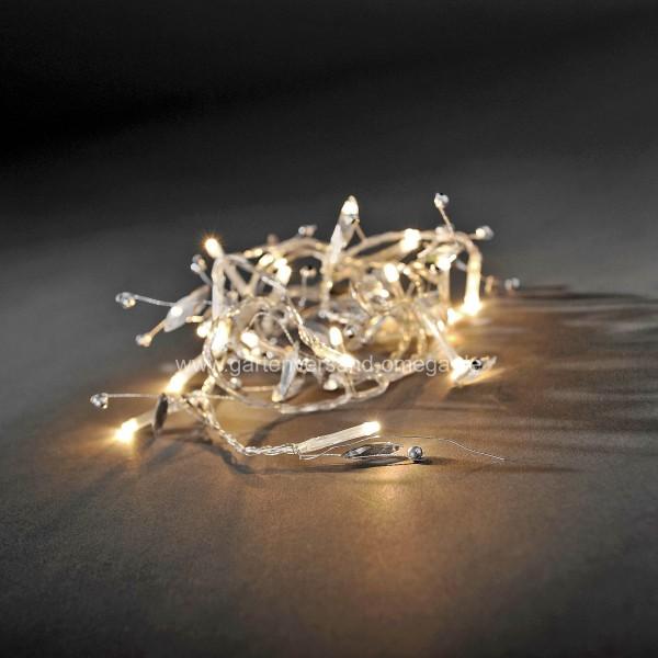 LED Dekolichterkette mit Glasperlen