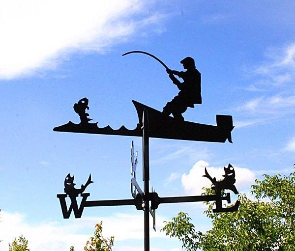 Wetterfahne Angler