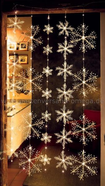 LED Schneeflocken-Vorhang