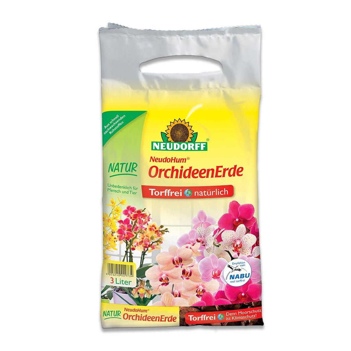 Neudorff NeudoHum OrchideenErde Orchideen umtopfen Spezialerde