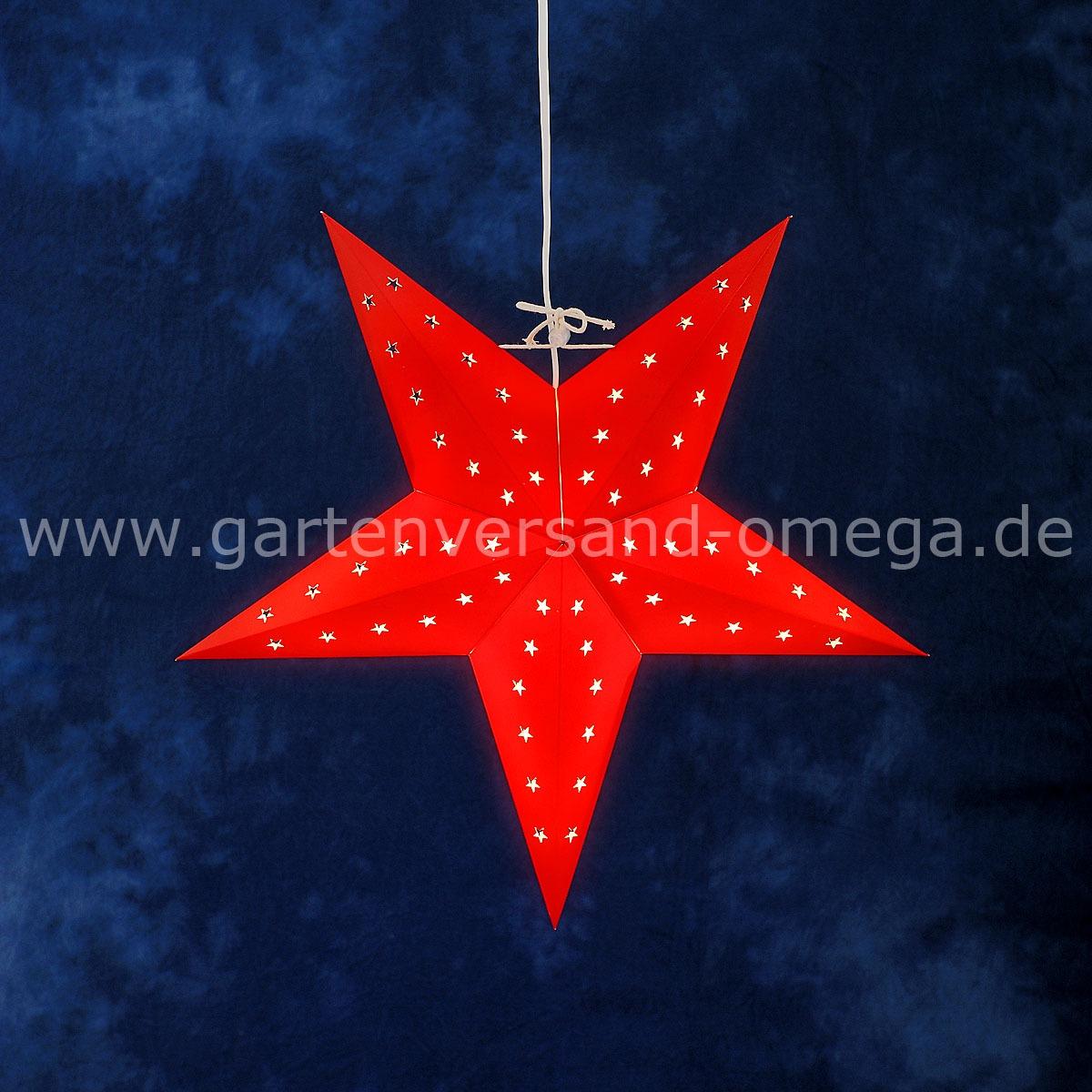 Beleuchteter Papierstern Rot Leuchtender Stern Weihnachtsstern