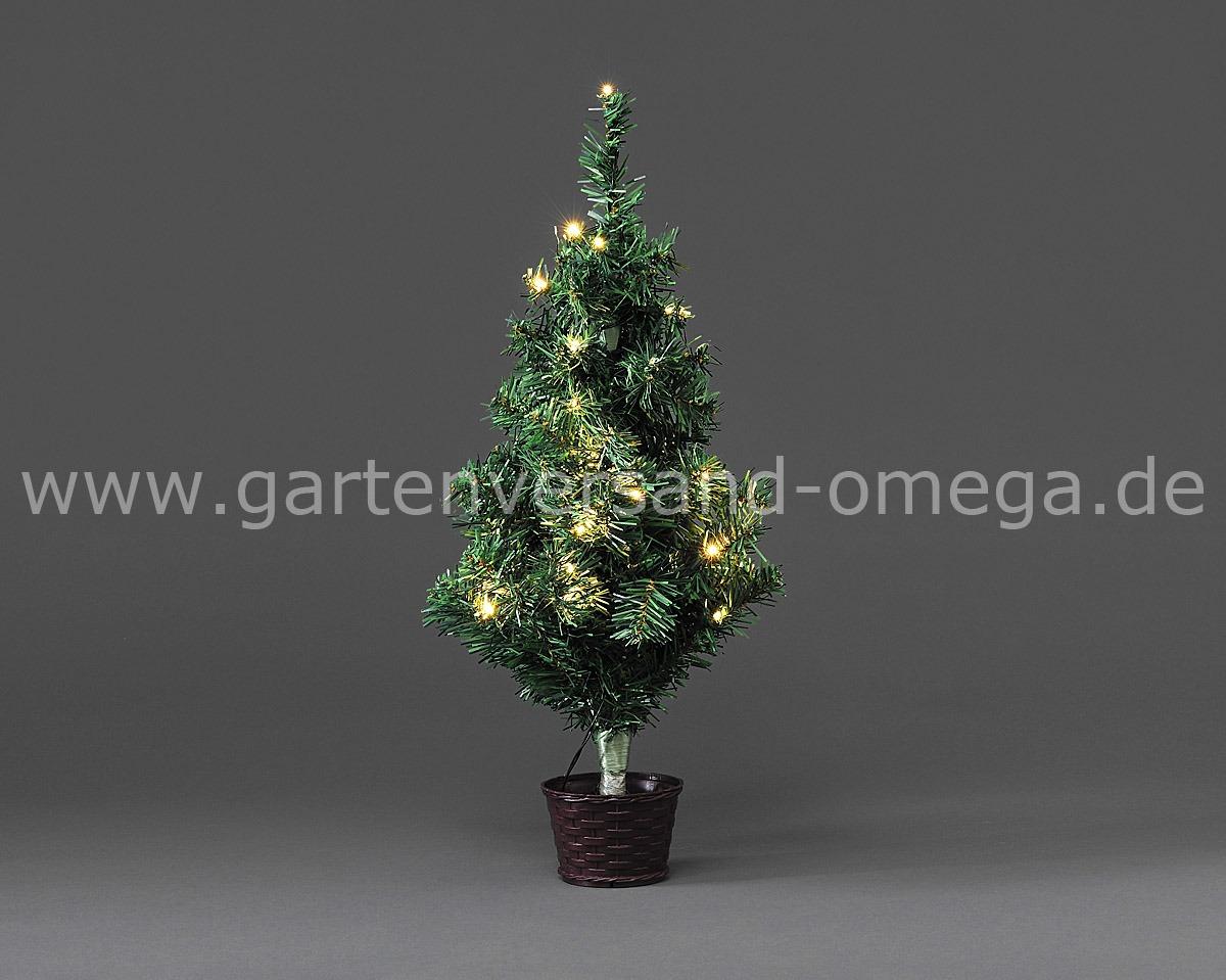 LED Weihnachtsbaum mit Topf und Lichterkette Künstlicher