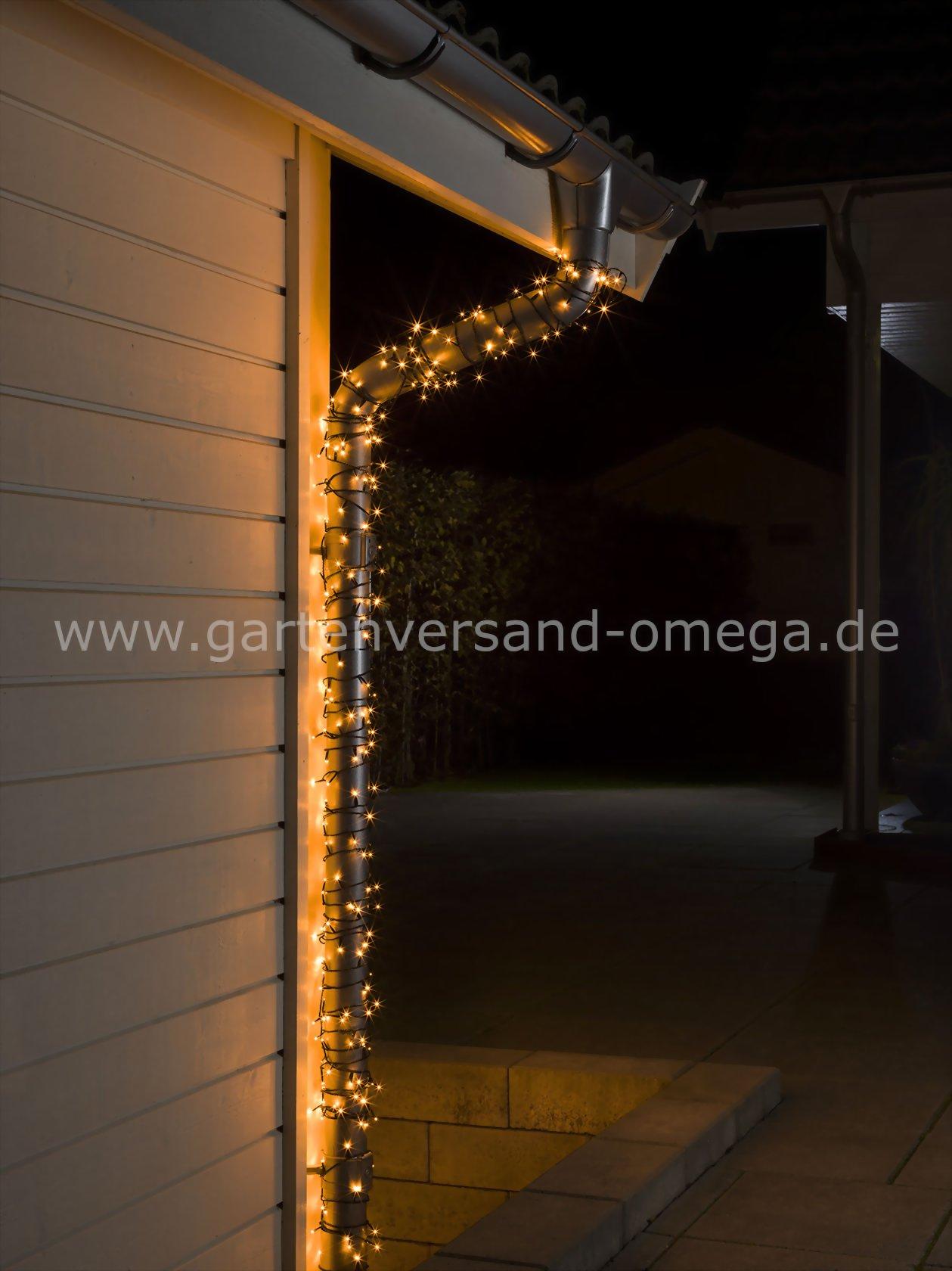 Bernsteinfarbene micro led lichterkette f r au en lichterkette mit warmer lichtfarbe - Lichterkette am fenster aufhangen ...