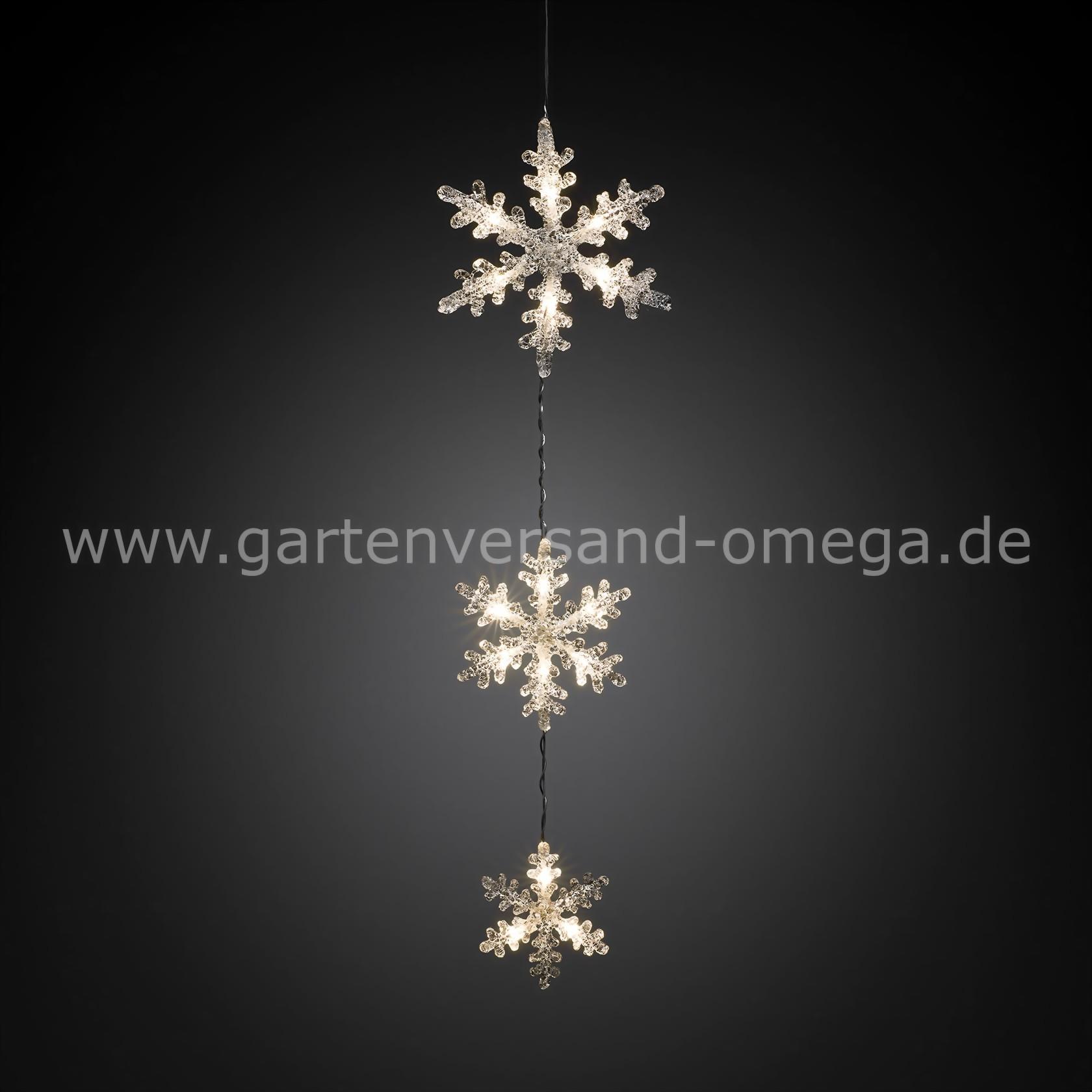 LED Schneeflockenvorhang Warm Weiß Lichtvorhang zur