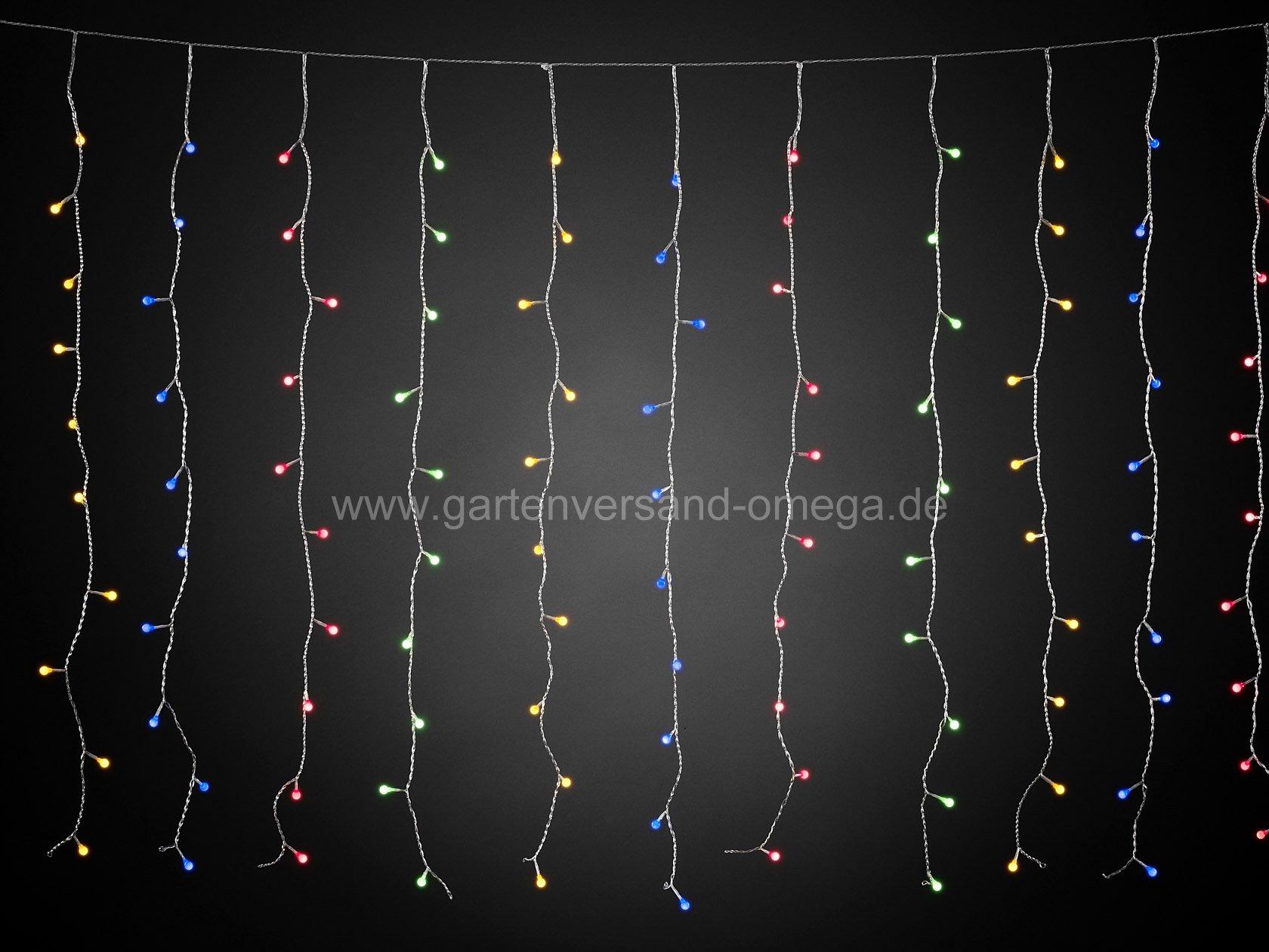Bunter led lichtervorhang mit 400 globe leds for Lichtervorhang weihnachten